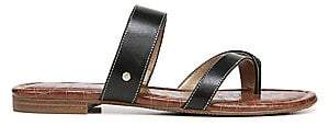 Sam Edelman Women's Bernice Leather Strap Slides Sandals