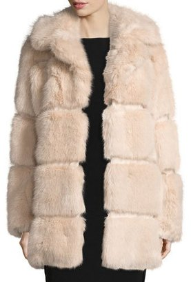 Kate Spade New York Banded Faux-Fur Coat, Champagne $699 thestylecure.com