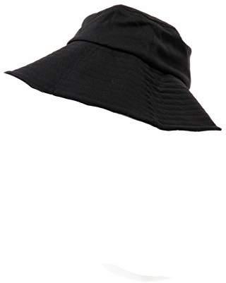 遮熱折りたためるクール日よけ帽子 ブラック×ドット
