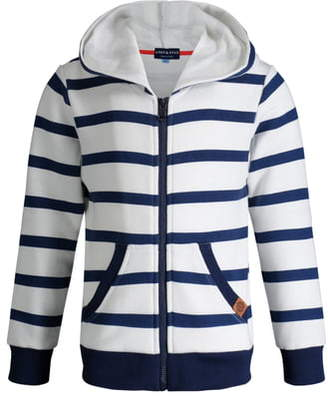 Andy & Evan Stripe French Terry Zip Hoodie