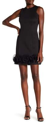 Donna Ricco Sleeveless Ruffle Hem Sheath Dress