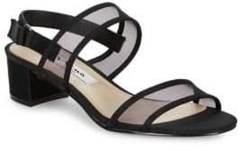 Nina Ganice Metallic Foil Block Heel Sandals