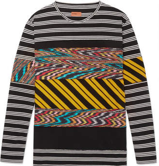 Missoni Panelled Printed Cotton-Jersey T-Shirt