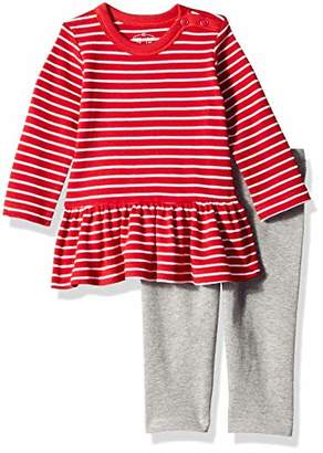 Moon and Back Baby Girls' Organic2-Piece Dress and Legging Set