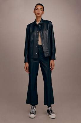 Topshop Leather Crop Flares by Boutique