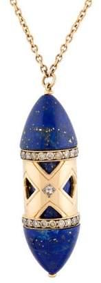 Pamela Love 18K Lapis & Diamond Pendant Necklace