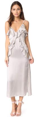 MLM LABEL Ruffle Slip Dress $285 thestylecure.com