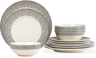 Lenox Around The Table Dot Collection 12 Piece Place Setting, Service for 4
