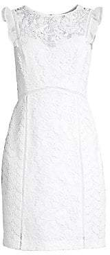 Lilly Pulitzer Women's Maya Floral Lace Sheath Dress - Size 0