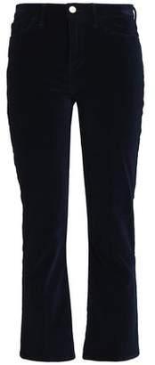Frame Cotton-Blend Velvet Flared Pants