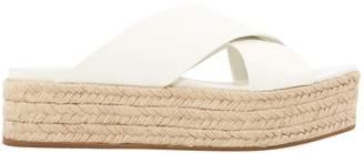 Miu Miu White Leather Espadrilles