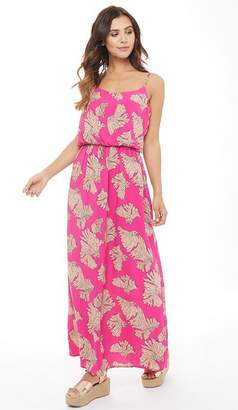 Only Womens Nova Flower Print Maxi Dress Fuchsia Purple/Open Flower