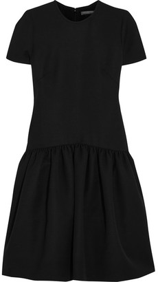 Alexander McQueen - Drop-waist Wool-blend Scuba Dress - Black $2,165 thestylecure.com