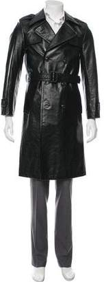 Maison Margiela Replica Leather Trench Coat
