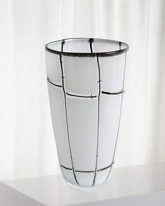 Global Views Large Abstract Grid Vase