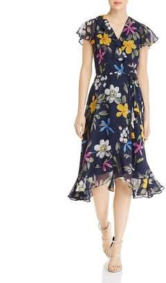 Adrianna Papell Floral-Print Chiffon Midi Dress