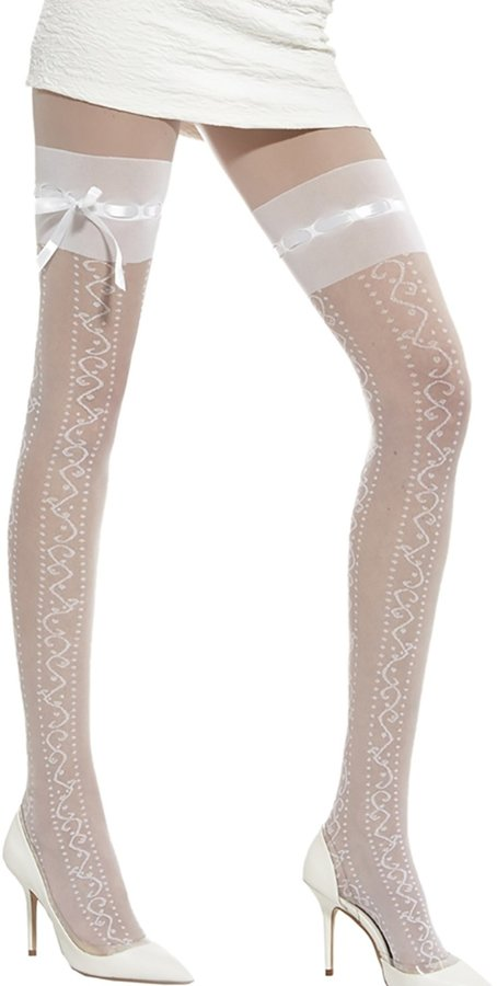 Adrian Ladie's Patterned Tights0 Denier Wedding Collection Pantyhose