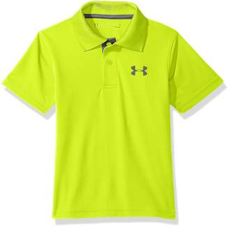 Under Armour Toddler Boy's Ua Match Play Polo Shirt, High/Vis Yellow