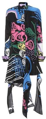 J.W.Anderson Printed cotton and silk dress