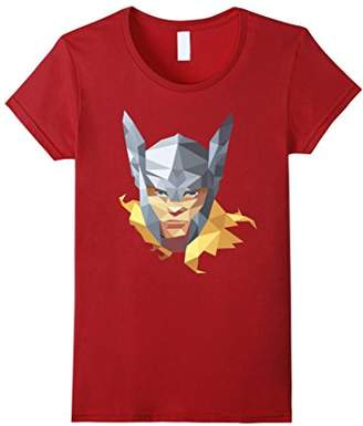 Marvel Thor The Mighty Big Face Geometric Prism T-Shirt