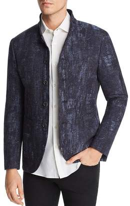 John Varvatos Collection Jacquard Button-Front Slim Fit Jacket