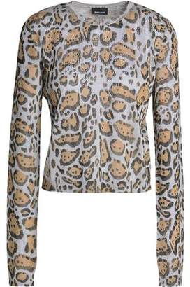Just Cavalli Metallic Leopard-Print Top