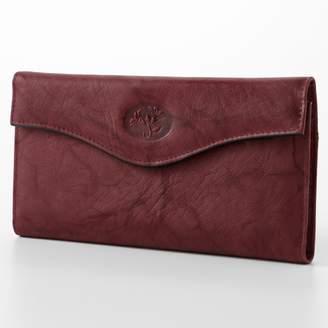 Buxton Heiress Floral Organizer Leather Clutch Wallet
