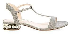 Nicholas Kirkwood Women's Casati Pearly Heel T-Strap Sandals
