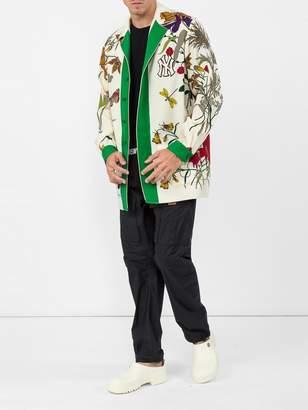 Gucci Ny yankees floral print wool jacket