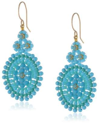 Miguel Ases Turquoise Small Oval Drop Earrings
