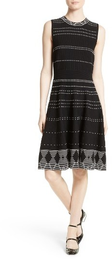 Women's Kate Spade New York Texture Knit Fit & Flare Dress