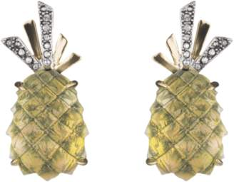 Alexis Bittar Lucite Pineapple Clip Earrings