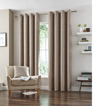 Accessorize Natural Vermont Eyelet Curtain Set