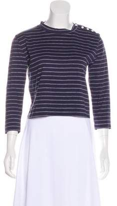 Band Of Outsiders Striped Crop Top