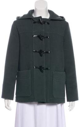 Joseph Virgin Wool Hooded Jacket
