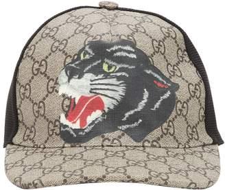 Gucci Gg Supreme Faux Leather Trucker Hat