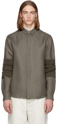 Jil Sander Grey Wrapped Ristoro Shirt