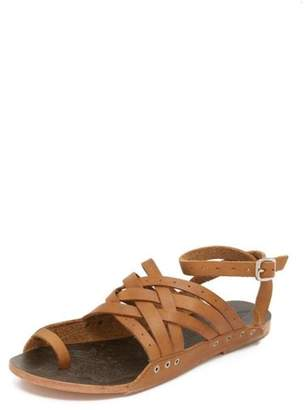 Free People Brown Strappy Sandal