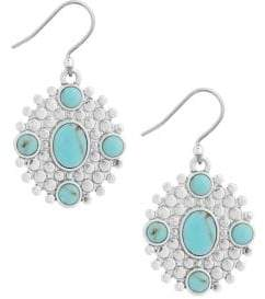 Lucky Brand April Chase Turquoise Calcite Drop Earrings