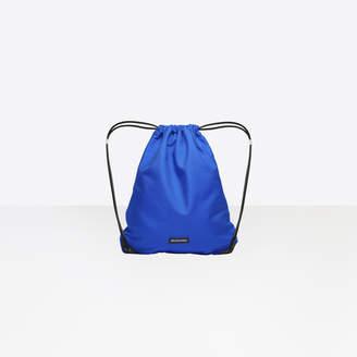 Balenciaga Nylon small drawstring backpack with label