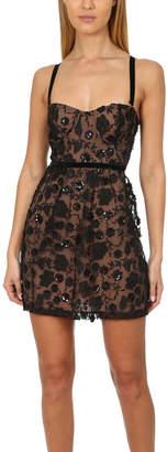 For Love & Lemons Beatrice Strappy Mini Dress