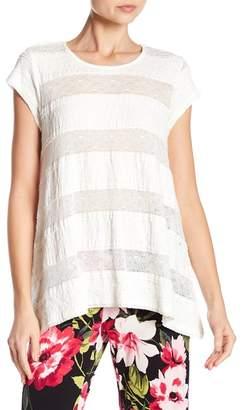 Karen Kane Ruffle & Lace Knit Top