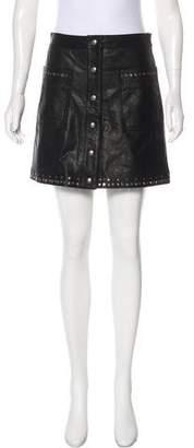 Reed Krakoff Leather Button-Up Skirt w/ Tags