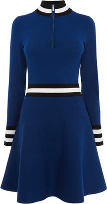 Karen Millen Sporty High-Neck Dress