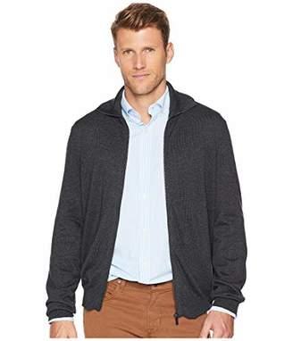 Perry Ellis Men's Jersey Knit Zip-Front Cardigan Sweater