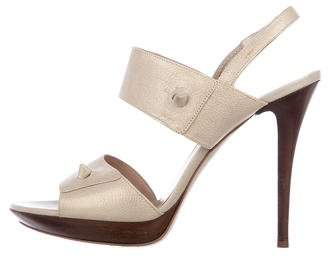 Salvatore Ferragamo Leather Strap Sandals