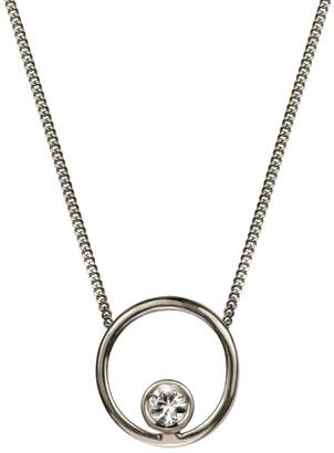 Lee Renee Halo Necklace White Sapphire & Silver