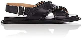 Jil Sander Women's Crisscross-Strap Leather Sandals - Black