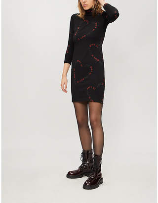 Boy London Is Love-print stretch-cotton dress