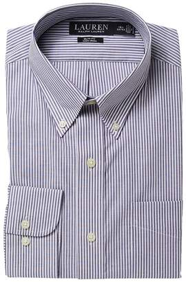 Lauren Ralph Lauren Slim Fit No-Iron Cotton Dress Shirt Men's Long Sleeve Button Up